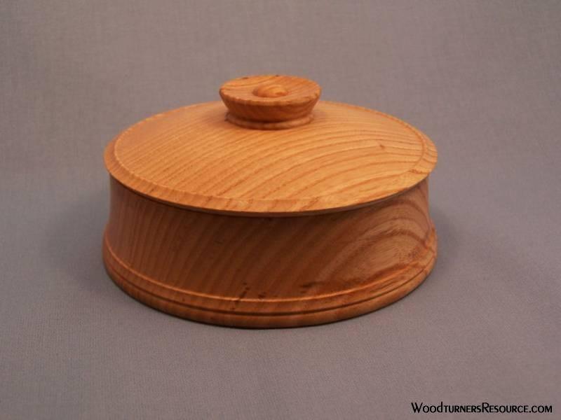 Raffan Style Lidded Bowl (Ash)