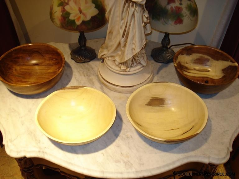 4 Chinese Tallow Bowls