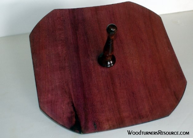 Purpleheart Cracker plate