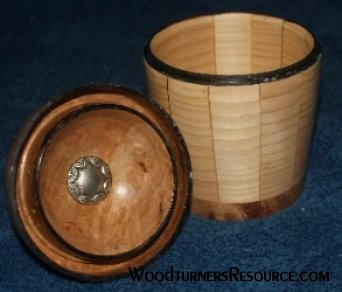 Maple Burl and White Pine Box