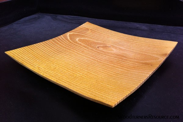Square Osage Orange Plate- Top