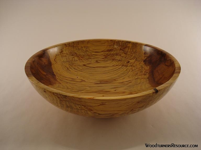 Orange colored spalted sweetgum bowl