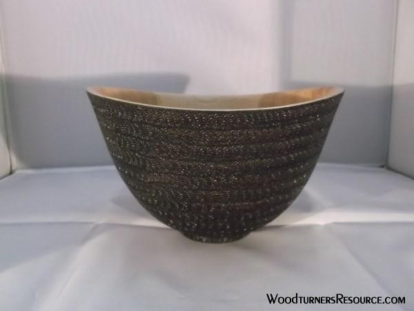 7in Black Oak/Branded Bowl