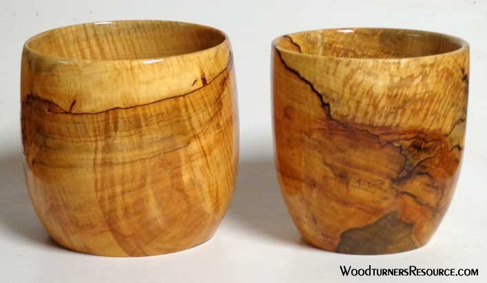 Silver maple bowls