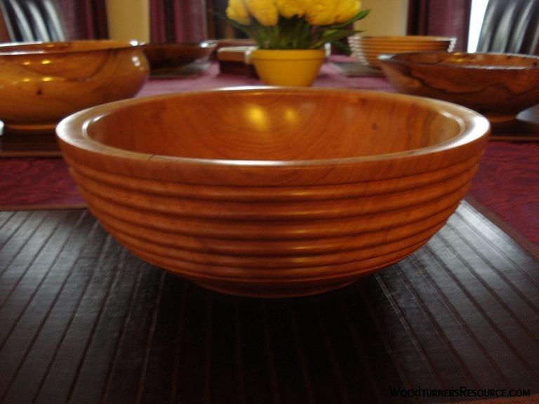 "12"" Cherry beaded bowl"