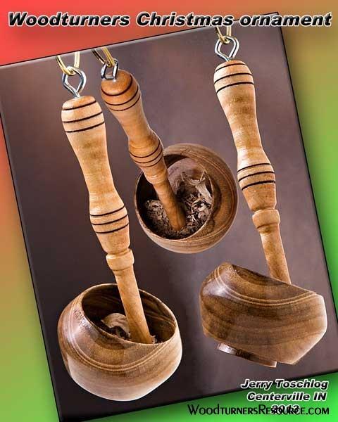 Bowl & gouge Christmas ornament