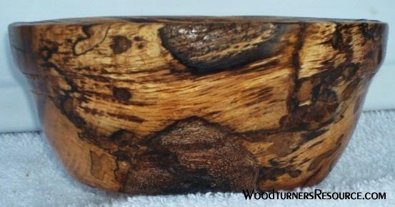 Spalted Black Jack Oak Bowl