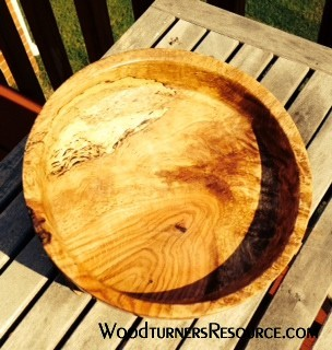 Shallow Spalted Oak Bowl