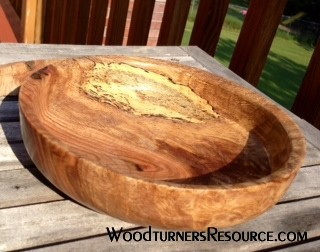Shallow Spalted Oak Bowl 2