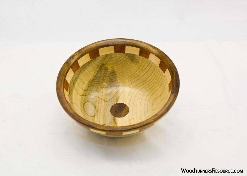 Maple Bowl with Segmented Accent