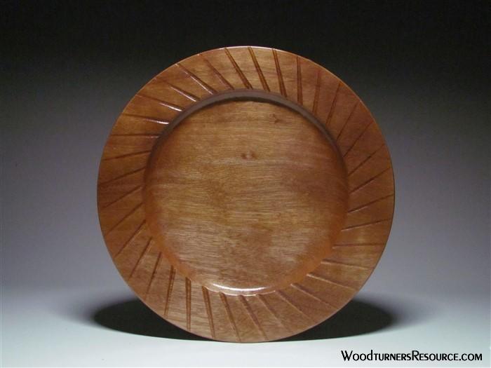 Fluted Makore Platter