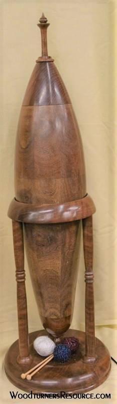 Claro Walnut display urn.