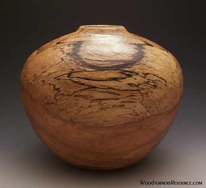 Textured Spalted Beech Vessel