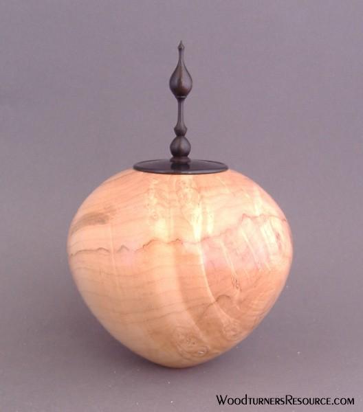 Maple burl lidded form