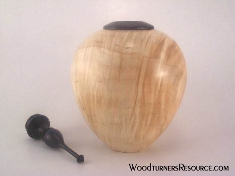 Curly Maple HF w/h finial 2