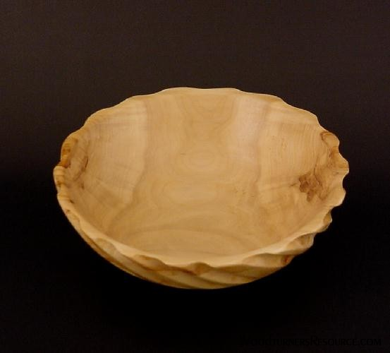Poplar Spiral Bowl 5168