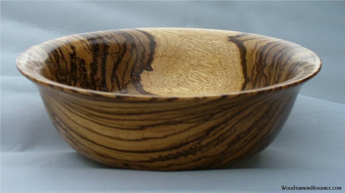 Zebra Wood Bowl 1