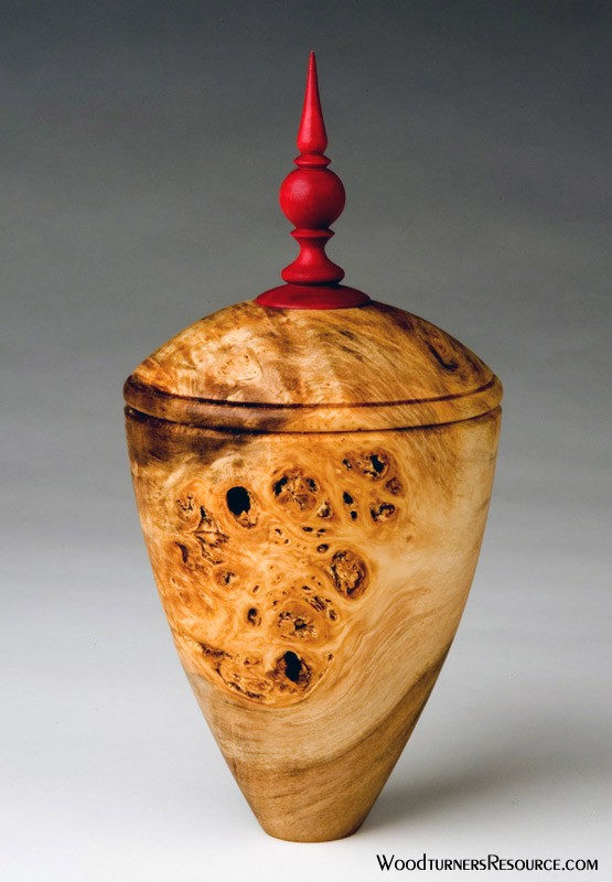 Box Elder False Lid Hollow Form