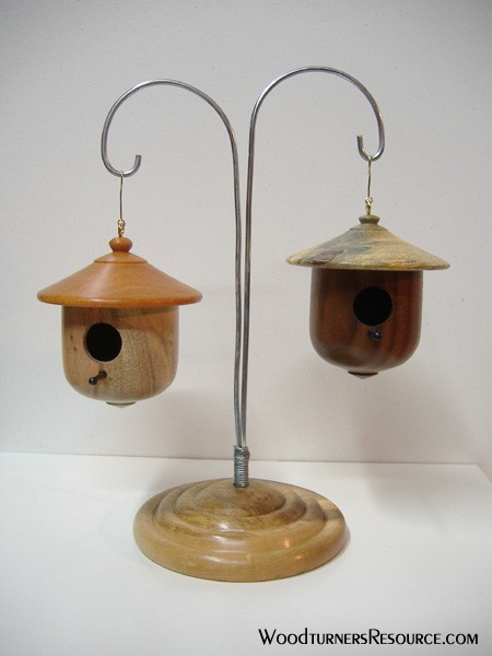 Birdhouses and stand