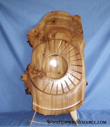"""Sculptured 24""""x2"""" Elm Bowl"""
