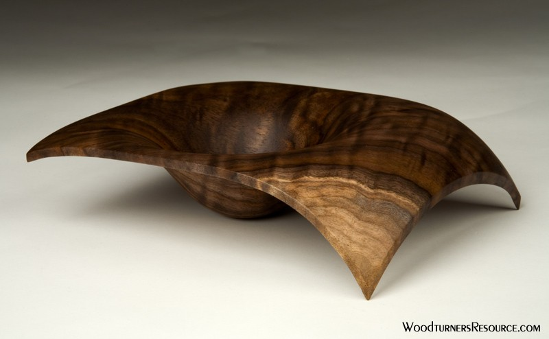 Claro Walnut Bi-Footed Bowl