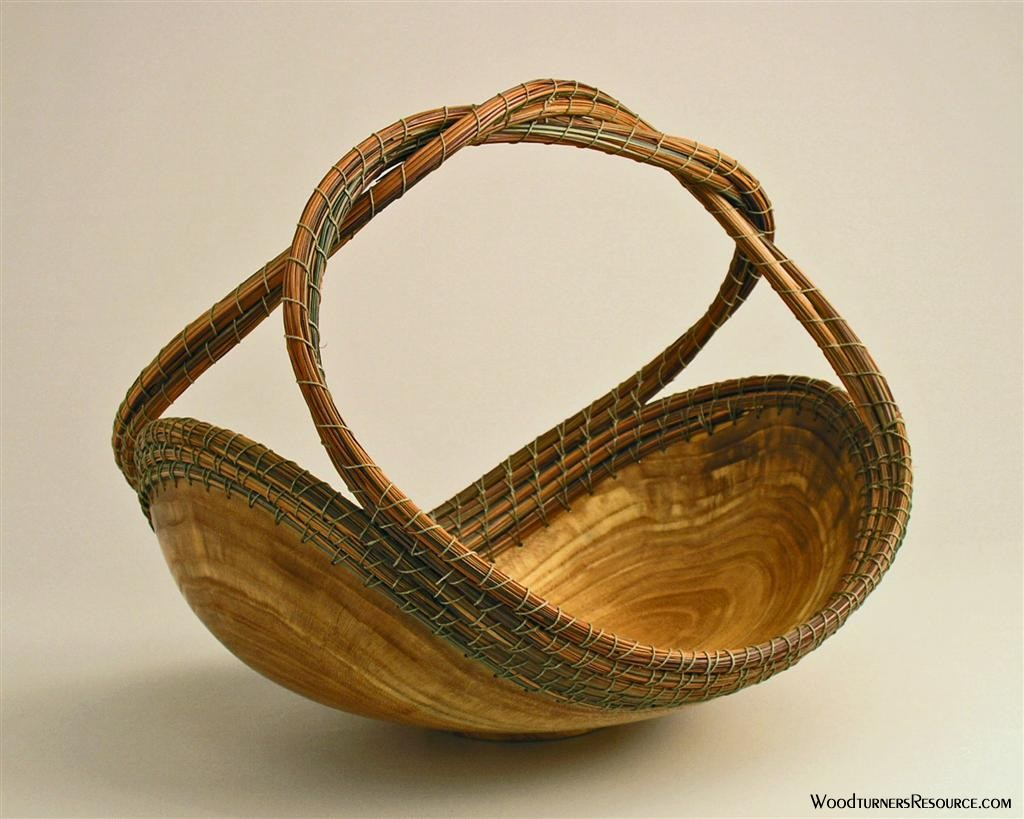 Honey Locust/pine needle basket