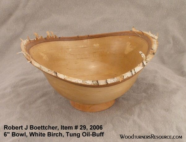 White Birch Bowl - Natural Edge