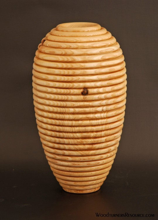 Plain Beaded Ash Vase 5238