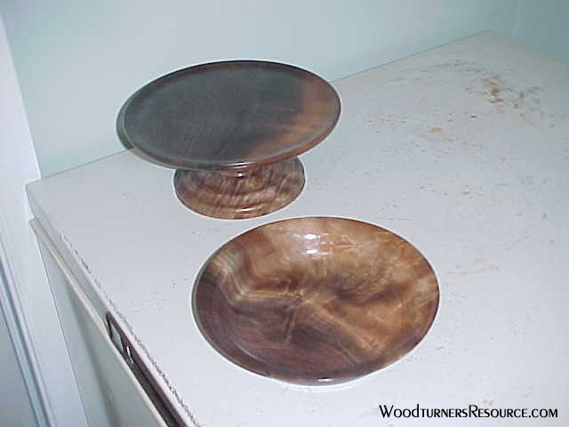Walnut Pedestal & Plate