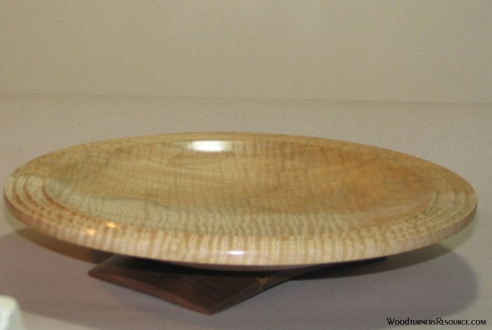 Maple platter on stand