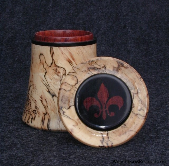 Spalted Maple box with inlay