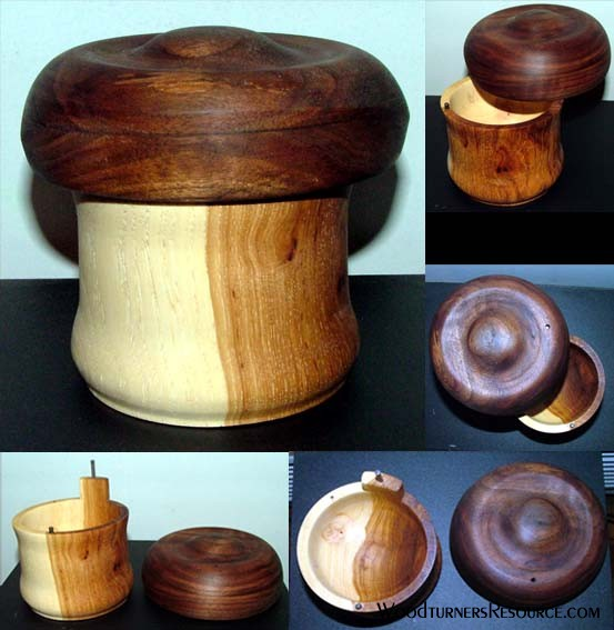 Hickory with Walnut Lid