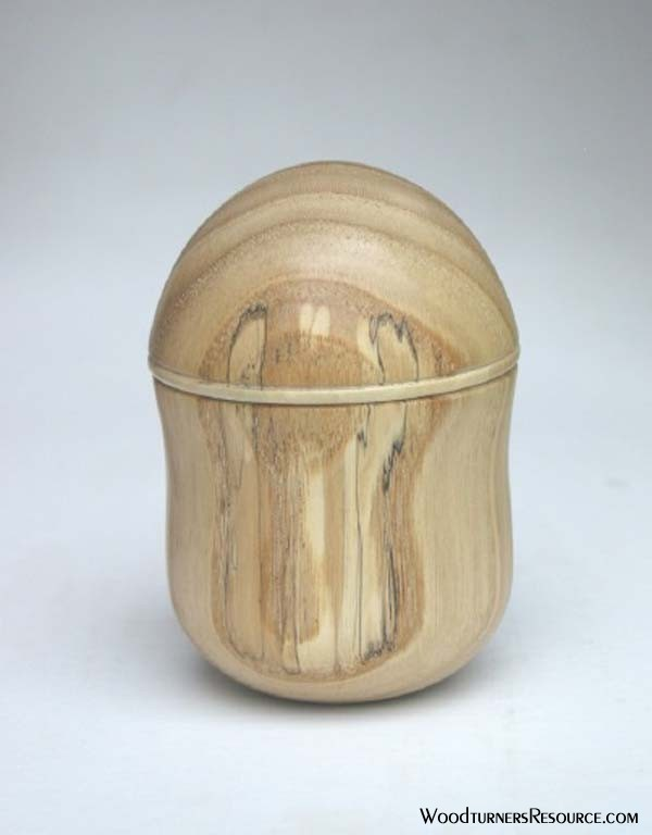 Chestnut lidded box (white backdrop)