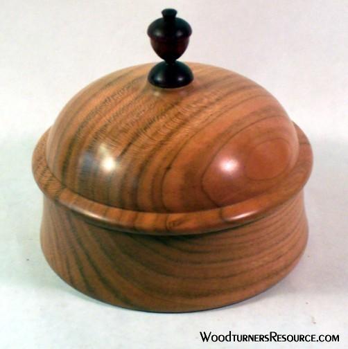 Cherry dome top box with Paduak acorn finial