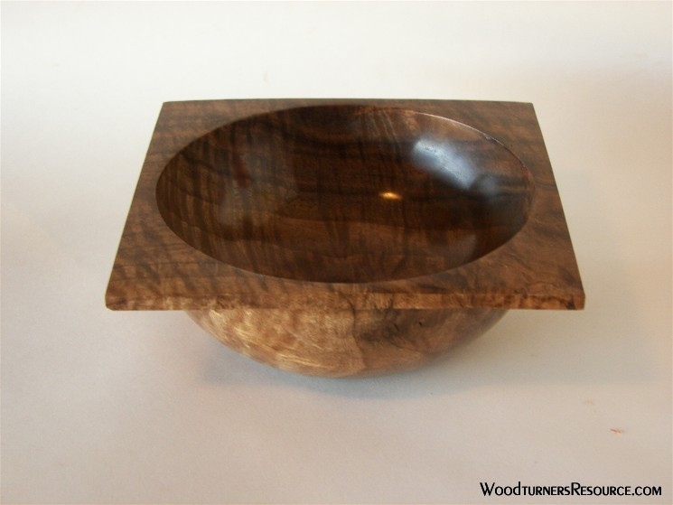 Square edge walnut bowl