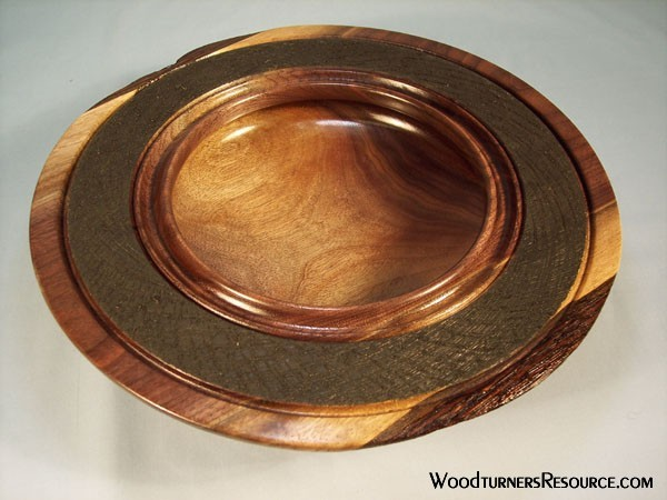 Walnut Textured Bowl
