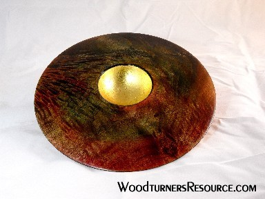 Quilted Maple platter with gold leaf