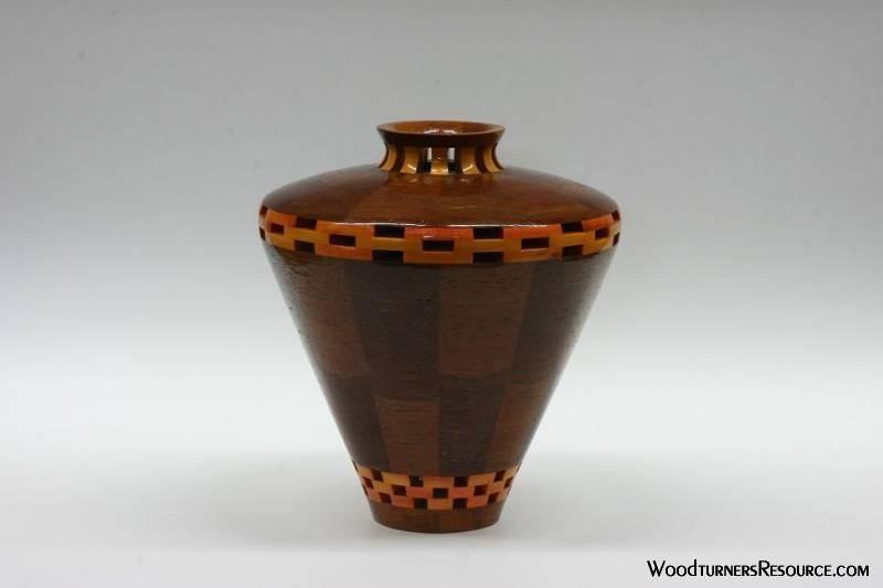 ipe and canarywood vase
