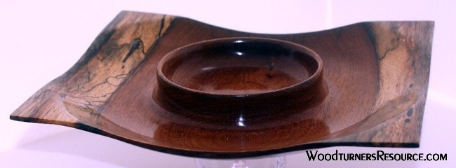 Mahogany serving plate
