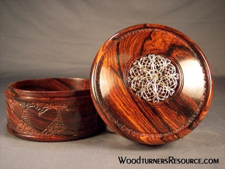 Cocobolo Box top view