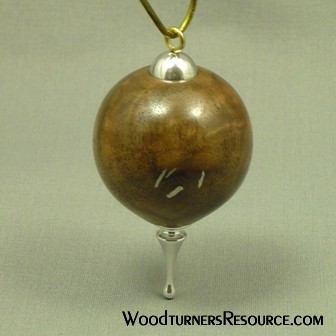 Walnut and Aluminum Ornament