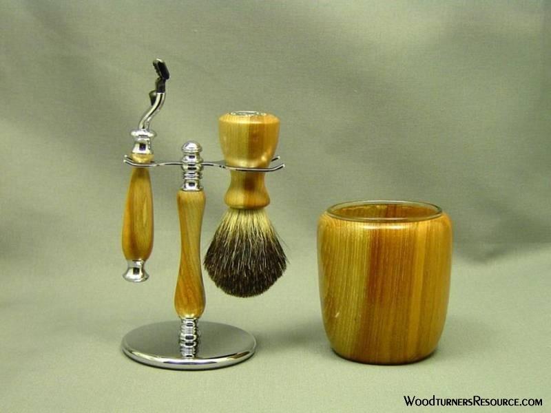 Pecan Shaving Set