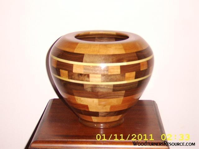 Walnut ,Maple & Poplar Segmented Bowl