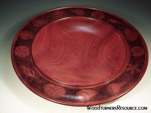 Purpleheart Shell Platter